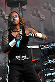 The Prodigy - vocalist Maxim performing live as the Headline Act on Day Two on the Second Stage at the 2009 Download Festival at Donington Park UK - 13 Jun 2009.  Photo credit: George Chin/IconicPix