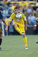 29 MAY 2010:  Robbie Rogers of the Columbus Crew (18) during MLS soccer game between LA Galaxy vs Columbus Crew at Crew Stadium in Columbus, Ohio on May 29, 2010. Galaxy defeated the Crew 2-0.