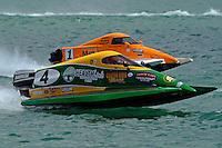 26  July, 2009, Trenton, Michigan USA.Amanda Hagerl (#4) and Rob Rinker (#1).©2009 F.Peirce Williams USA.SST-45 class