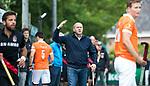 BLOEMENDAAL   - Hockey - coach Michel van den Heuvel (Bldaal) . 3e en beslissende  wedstrijd halve finale Play Offs heren. Bloemendaal-Amsterdam (0-3). Amsterdam plaats zich voor de finale.  COPYRIGHT KOEN SUYK