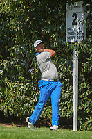Jon Rahm (ESP) watches his tee shot on 2 during round 3 of the World Golf Championships, Mexico, Club De Golf Chapultepec, Mexico City, Mexico. 3/3/2018.<br /> Picture: Golffile | Ken Murray<br /> <br /> <br /> All photo usage must carry mandatory copyright credit (&copy; Golffile | Ken Murray)