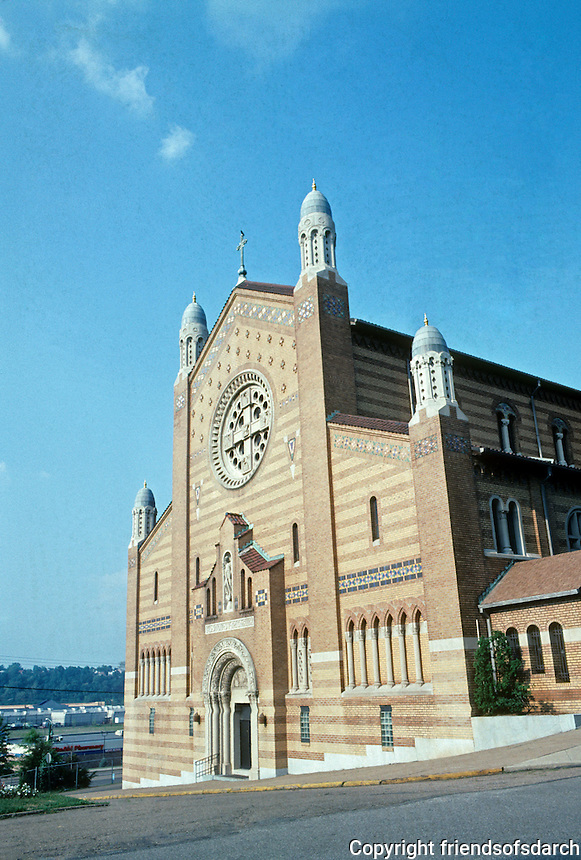 Pittsburgh: Homestead-Munhall.  The First Slovakian Church in Homestead--Michael the Archangel, 1927. Photo 2001.