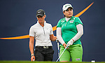 TAOYUAN, TAIWAN - OCTOBER 27:  Inbee Park and Suzann Pettersen stand on the 9th tee during the day three of the Sunrise LPGA Taiwan Championship at the Sunrise Golf Course on October 27, 2012 in Taoyuan, Taiwan.  Photo by Victor Fraile / The Power of Sport Images