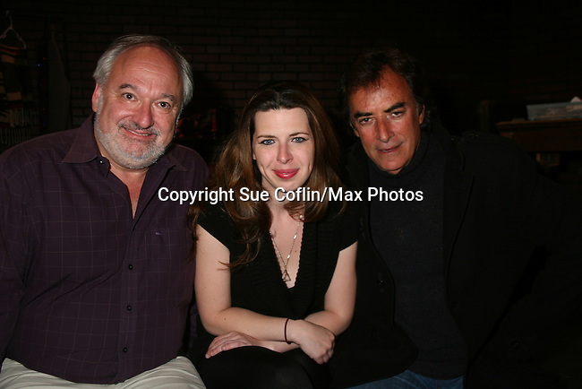 """Days of Our Lives and Mission Impossible star Thaao Penghlis """"Tony DiMera"""" and General Hospital's """"Victor Cassadine"""" is starring in Class with Heather Matarazzo and they pose with Roy Steinberg (artistitic director) who was director at GL, Days and AMC and was on Another World. The play Class is at the Cape May Stage in Cape May, New Jersey. The play runs til June 12, 2010. (Photo by Sue Coflin/Max Photos)"""