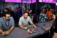 SAN DIEGO COMIC-CON© 2019:  L-R: 20th Century Fox Television's AMERICAN DAD Writer/Cast Member Jeff Kauffmann and Cast Member Scott Grimes during the AMERICAN DAD booth signing on Saturday, July 20 at the SAN DIEGO COMIC-CON© 2019. CR: Alan Hess/20th Century Fox Television