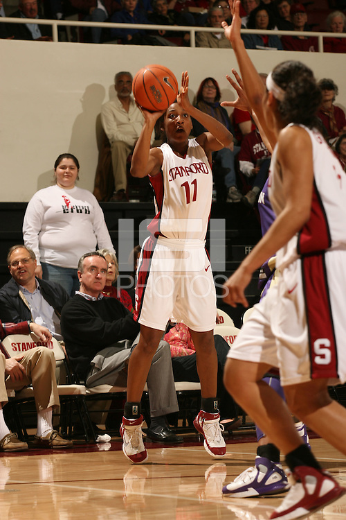 23 February 2006: Candice Wiggins during Stanford's 100-69 win over the Washington Huskies at Maples Pavilion in Stanford, CA.