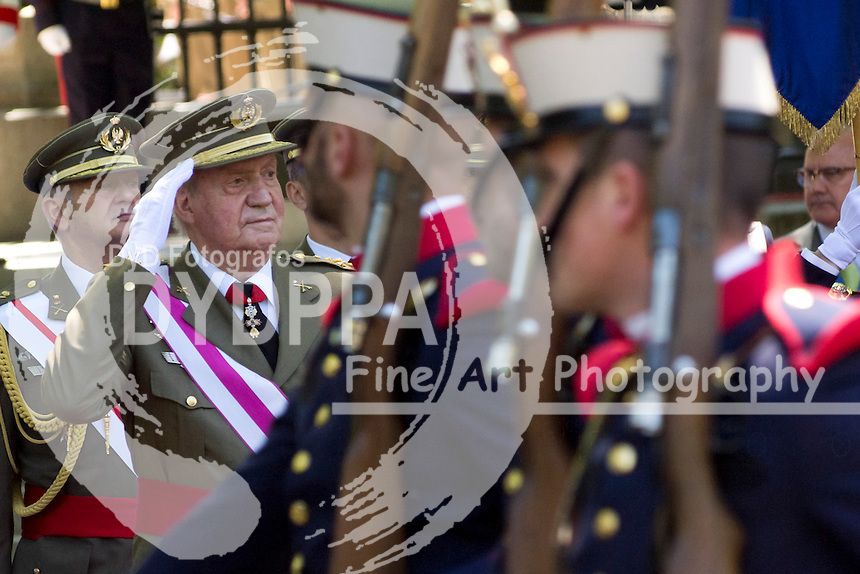 01.06.2013. Madrid. Spain. Spanish Royal family attend the Armed Forces Day. In the image:  King Juan Carlos of Spain. (C) Ivan L. Naughty / DyD Fotografos//