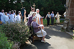 Church Clipping Ceremony St Peters Church, Edgmont, Shropshire Uk 2015. <br />