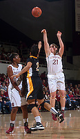 Stanford's Sara James attempts to make a basket during Saturday, November 25, 2012 game at Stanford against Long Beach State.. Stanford won 77-41.