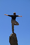 Balancing man, on granite spire. .  John leads private photo tours in Boulder and throughout Colorado. Year-round. .  John offers private photo tours in Denver, Boulder and throughout Colorado. Year-round Colorado photo tours.