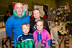 James, Gearoid, Aoife and Majella Moynihan, Doon, Tralee, pictured at the Tralee Enterprise Town Community, Sport and Business Expo at Tralee Sports Complex on Saturday morning last.
