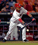 18 May 2007: Washington Nationals outfielder Nook Logan in action against the Baltimore Orioles at RFK Stadium in Washington, DC. The Orioles defeated the Nationals 5-4 in the first game of the 3-game interleague series...Mandatory Photo Credit: Ed Wolfstein Photo