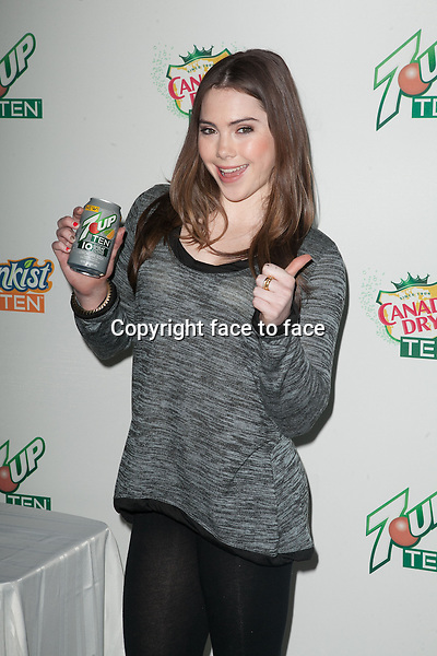 NEW YORK, NY - FEBRUARY 28: Olympic Gymnast McKayla Maroney takes a sip of 7UP TEN, the new 10-calorie soda from Dr Pepper Snapple Group at Penn Station on February 28, 2013 in New York City...Credit: MediaPunch/face to face..- Germany, Austria, Switzerland, Eastern Europe, Australia, UK, USA, Taiwan, Singapore, China, Malaysia and Thailand rights only -