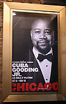 "Theatre Marquee for Cuba Gooding Jr. returns to Broadway in ""Chicago"" on October 9, 2018 at the Ambassador Theatre in New York City."
