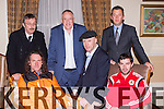 Launching the 2014 Kerry Sports awards in the Malton Hotel Killarney on Friday were front row l-r: John Lenihan, Michael Healy-Rae, Robin Day Director. Back row: Ken Day, Mike O'Mahony Rentokil and Paul O'Sullivan Malton Hotel