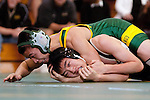 Manhattan Beach, CA 01/29/10 - In the 130 lbs. weight category Mira Costa's Alan Hoa wrestled Dan Min of Peninsula.  Peninsula defeated Mira Costa 49-15.