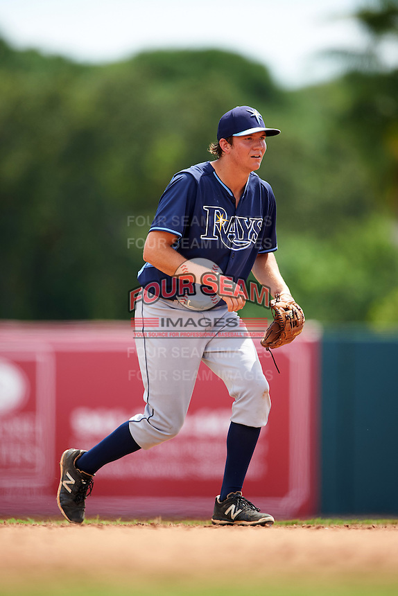 Tampa Bay Rays Michael Russell (22) during an instructional league game against the Baltimore Orioles on September 25, 2015 at Ed Smith Stadium in Sarasota, Florida.  (Mike Janes/Four Seam Images)