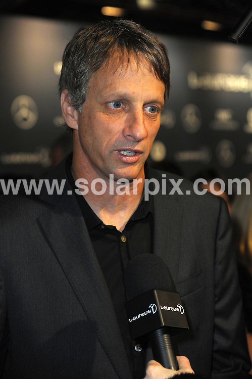 **ALL ROUND PICTURES FROM SOLARPIX.COM**                                             **WORLDWIDE SYNDICATION RIGHTS**                                                                                  Stars arrive at the Laureus World Sports Awards, held Central Hall, Westminster in London.  .This pic:   Tony Hawks.JOB REF:     14445   MSR       DATE:  06.02.12                                                          **MUST CREDIT SOLARPIX.COM OR DOUBLE FEE WILL BE CHARGED**                                                                      **MUST AGREE FEE BEFORE ONLINE USAGE**                               **CALL US ON: +34 952 811 768 or LOW RATE FROM UK 0844 617 7637**