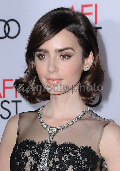 """10 November 2016 - Hollywood, California. Lily Collins. AFI FEST 2016 - Opening Night Premiere Of """"Rules Don't Apply"""" held at TCL Chinese Theater. Photo Credit: Birdie Thompson/AdMedia"""