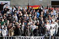 Pictured: Fans of Swansea City in action<br /> Re: Coca Cola Championship, Swansea City FC v Cardiff City at the Liberty Stadium. Swansea, south Wales, Sunday 30 November 2008.<br /> Picture by D Legakis Photography / Athena Picture Agency, Swansea 07815441513