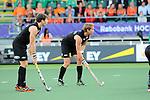 The Hague, Netherlands, June 10: Andy Hayward #5 of New Zealand lines up for a penalty corner during the second half during the field hockey group match (Men - Group B) between New Zealand and The Netherlands on June 10, 2014 during the World Cup 2014 at Kyocera Stadium in The Hague, Netherlands. Final score 1-1 (0-1) (Photo by Dirk Markgraf / www.265-images.com) *** Local caption ***