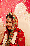MAURITIUS, portrait of Bride Anishtah Hurloll during the ceremony at her Hindu wedding in the town of Surina