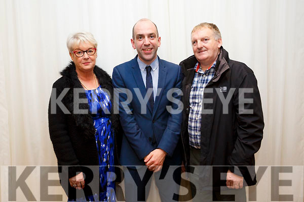 Tidy Towns awards at the Rose Hotel on Monday. Winner in Business  category were Shaws Department Store, Julette McAdams, Mike Quinn, Manager, John McAdams