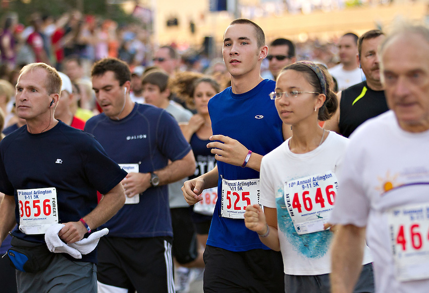 Five thousand runners took part in this year's Arlington Police, Fire and Sheriff 9/11 Memorial 5K September 10 to benefit local charities and commemorate the 10th anniverary of the attack on the Pentagon.