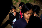 Children in a remote village outside of Uspantan, Guatemala, on March 28, 2012. Many indigenous Guatemalans were accused by the government of harboring leftist guerrillas. Villagers here fled to the mountains where they lived for 12 years when the military came and burned their homes, raped the women and forced men into civic patrols.
