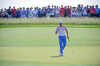 Rickie Fowler (USA) after sinking his putt on 11 during Thursday's round 1 of the 117th U.S. Open, at Erin Hills, Erin, Wisconsin. 6/15/2017.<br /> Picture: Golffile | Ken Murray<br /> <br /> <br /> All photo usage must carry mandatory copyright credit (&copy; Golffile | Ken Murray)