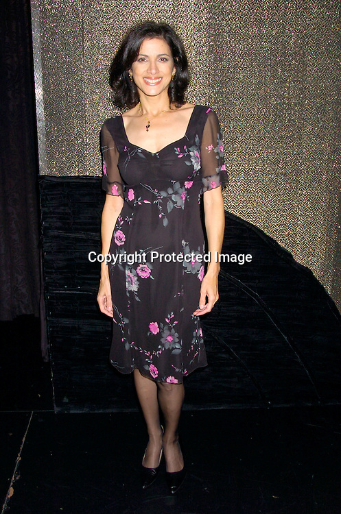 Saundra Santiago ..at the Triad for a performance by Paul Anthony Stewart and ..Saundra Santiago on October 9, 2004. This event raised money to fight the  disease Myositis, which Nancy St Alban's mother has. Photo by Robin Platzer, Twin Images....