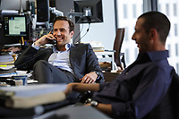 The Big Short (2015)<br /> Rafe Spall &amp; Jeremy Strong<br /> *Filmstill - Editorial Use Only*<br /> CAP/KFS<br /> Image supplied by Capital Pictures