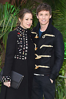 "Hannah Bagshawe and Eddie Redmayne<br /> arriving for the ""Early Man"" world premiere at the IMAX, South Bank, London<br /> <br /> <br /> ©Ash Knotek  D3369  14/01/2018"