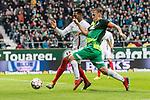 10.02.2019, Weserstadion, Bremen, GER, 1.FBL, Werder Bremen vs FC Augsburg<br /> <br /> DFL REGULATIONS PROHIBIT ANY USE OF PHOTOGRAPHS AS IMAGE SEQUENCES AND/OR QUASI-VIDEO.<br /> <br /> im Bild / picture shows<br /> Max Kruse (Werder Bremen #10) im Duell / im Zweikampf mit Reece Oxford (FC Augsburg #05), <br /> <br /> Foto &copy; nordphoto / Ewert