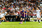 Lionel Messi of FC Barcelona (C) in action during their La Liga 2018-19 match between Valencia CF and FC Barcelona at Estadio de Mestalla on October 07 2018 in Valencia, Spain. Photo by Maria Jose Segovia Carmona / Power Sport Images