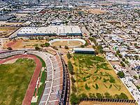 Vista aerea de Complejo deportivo de la Comisi&oacute;n Estatal de Deporte, CODESON en Hermosillo, Sonora....<br /> Estadio H&eacute;roe de Nacozari. <br /> CUM. <br /> Campo De Tiro Con Arco.<br /> Velodromo.<br /> Pista de Atletismo <br /> <br /> Photo: (NortePhoto / LuisGutierrez)<br /> <br /> ...<br /> keywords: