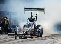 Sep 16, 2016; Concord, NC, USA; NHRA top fuel driver Tony Schumacher during qualifying for the Carolina Nationals at zMax Dragway. Mandatory Credit: Mark J. Rebilas-USA TODAY Sports