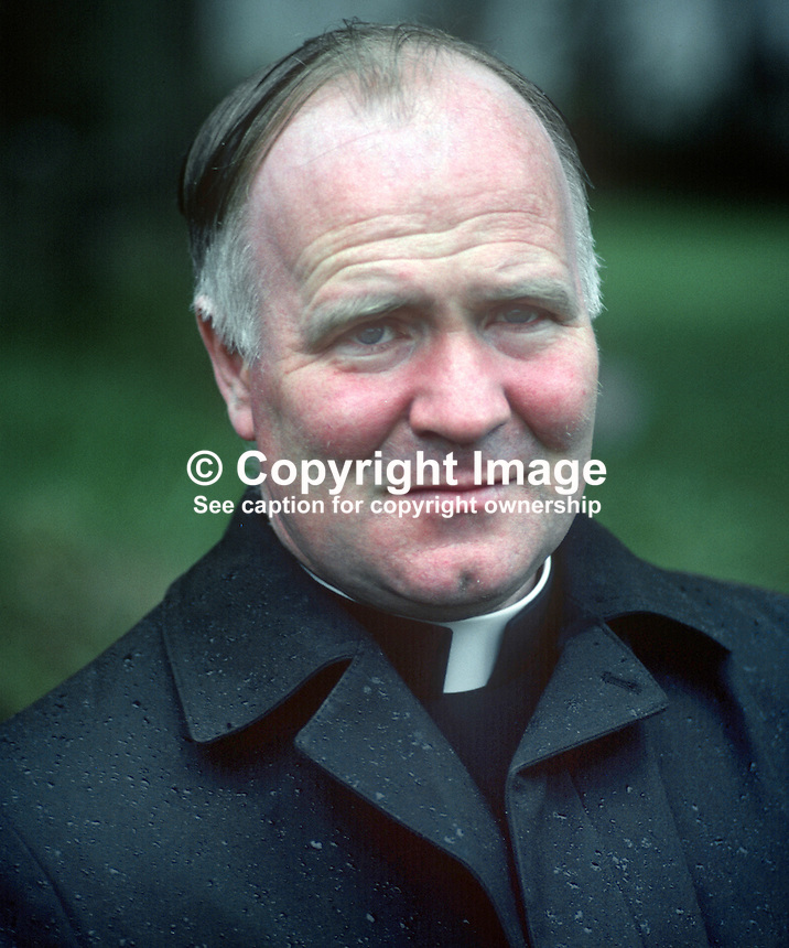 Rev Denis Faul, Roman Catholic priest, N Ireland, teacher, later principal, St Patrick's Academy, Dungannon, prominent critic of civil rights abuses by the British Army and the RUC, 197807000215DF1.<br /> <br /> Copyright Image from Victor Patterson,<br /> 54 Dorchester Park, <br /> Belfast, UK, BT9 6RJ<br /> <br /> t1: +44 28 9066 1296 (from Rep of Ireland 048 9066 1296)<br /> t2: +44 28 9002 2446 (from Rep of Ireland 048 9002 2446)<br /> <br /> m: +44 7802 353836<br /> <br /> e: victorpatterson@me.com<br /> www.victorpatterson.com<br /> <br /> Please see my Terms and Conditions of Use at www.victorpatterson.com. It is IMPORTANT that you familiarise yourself with them.<br /> <br /> Images used on the Internet must be visibly watermarked i.e. &copy; Victor Patterson<br /> within the body of the image and copyright metadata must not be deleted. Images <br /> used on the Internet have a size restriction of 4kbs and will be chargeable at current<br />  NUJ rates unless agreed otherwise.<br /> <br /> This image is only available for the use of the download recipient i.e. television station, newspaper, magazine, book publisher, etc, and must not be passed on to any third <br /> party. It is also downloaded on condition that each and every usage is notified within 7 days to victorpatterson@me.com<br /> <br /> The right of Victor Patterson to be identified as the author is asserted in accordance with The Copyright Designs And Patents Act (1988). All moral rights are asserted.