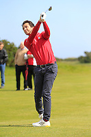 Gerard Dunne (Co. Louth) on the 7th during Round 1 of the Irish Amateur Close Championship at Seapoint Golf Club on Saturday 7th June 2014.<br /> Picture:  Thos Caffrey / www.golffile.ie