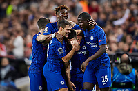27th November 2019; Mestalla, Valencia, Spain; UEFA Champions League Footballl,Valencia versus Chelsea; Mateo Kovacic of Chelsea celebrates  with his team mates after scoring the equalizer goal for his team (1-1) in minute 41' - Editorial Use