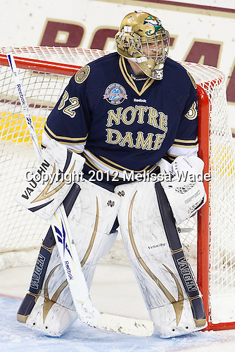 Mike Johnson (Notre Dame - 32) - The Boston College Eagles defeated the visiting University of Notre Dame Fighting Irish 3-1 (EN) on Friday, November 9, 2012, at Kelley Rink in Conte Forum in Chestnut Hill, Massachusetts.
