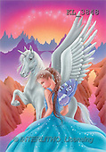 Interlitho, Lorella, FANTASY, paintings, unicorn, blue elf, KL, KL3848,#fantasy# illustrations, pinturas