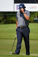 Phil Mickelson (USA) tips his hat after draining his putt on 8 during round 3 of the WGC FedEx St. Jude Invitational, TPC Southwind, Memphis, Tennessee, USA. 7/27/2019.<br /> Picture Ken Murray / Golffile.ie<br /> <br /> All photo usage must carry mandatory copyright credit (© Golffile | Ken Murray)