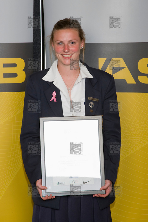 2008 Olympian Anna Green. ASB College Sport Young Sportperson of the Year Awards 2008 held at Eden Park, Auckland, on Thursday November 13th, 2008.