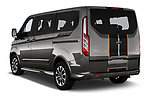 Car pictures of rear three quarter view of a 2018 Ford Tourneo Custom Sport 5 Door Passenger Van angular rear