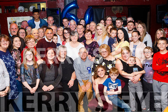 Ardfert man, John Martin Lyne celebrated his 60th birthday last Friday night in the Abbey Tavern in the village surrounded by family and friends.
