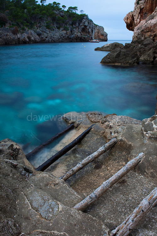 The small cove of Cala Deia, near the village of Deia Mallorca, Balearic Islands.