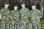 VISITOR: A visit by the Brigadier General Paul Packenham GOC  1st Southern Brigade to Tralee on Wednesday to wish Col,Matt Murray (O/C 1st Southern Command Brigade RDF), Comdt WG O'Connor (O/C 32nd RDF, Ballymullen Barracks, Tralee) and CQMS John Healy (32nd Bn Quartermaster, Ballymullen Barracks Tralee, all the best on their retirement from the Irish Defence Froces during 2010. L-r: Col Matt Murray, CQMS John Healy, Brigadier General Paul packenham  and WG O'Connor O/C 32nd RDF, Ballymullen Barracks, Tralee.................................. ....