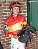 I'm Just Souper with Mr. Nicholas De Julian of Spain winning The Longines World Fegentri Championship for Gentlemen Riders at Delaware Park on 9/6/14