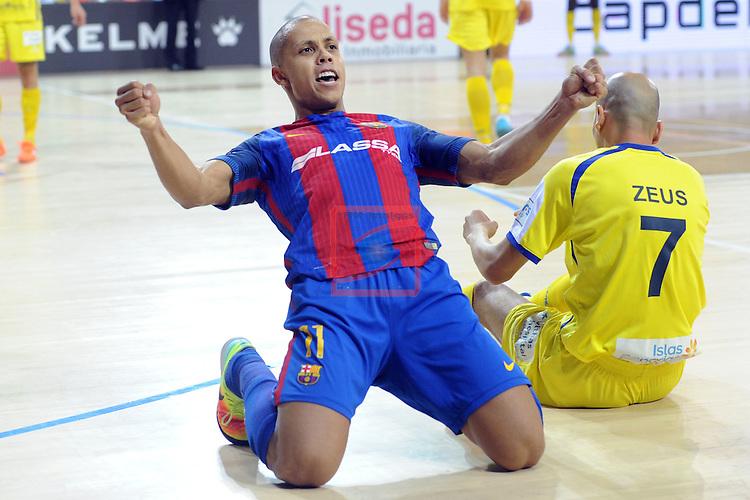 League LNFS 2016/2017 - Game 4.<br /> FC Barcelona Lassa vs Gran Canaria FS: 4-2.<br /> Ferrao.